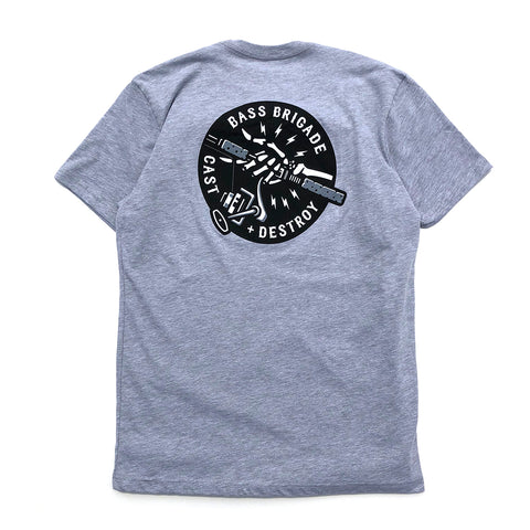 BB Skull Hand Tee - Graphite Heather