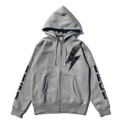 Bolt BRGD Zip Hoodie - Grey/Black