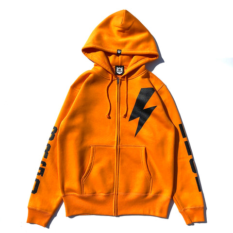 Bolt BRGD Zip Hoodie - Orange/Black
