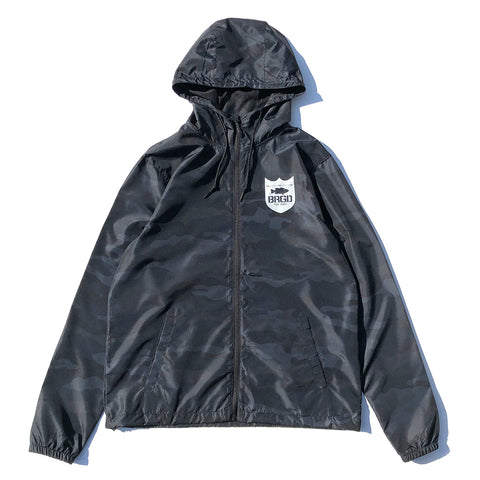 BRGD Frame Pull Zip Hooded Windbreaker - Black Camo