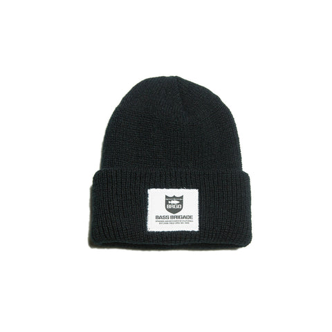 Heavyweight Knit Watcher Cap - Black