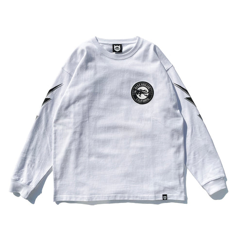 BB CA Bone L/S Tee - White