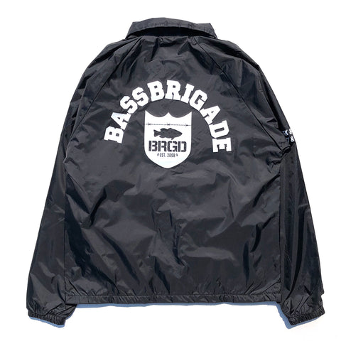 Shield Arch Nylon Coaches Jacket - Black