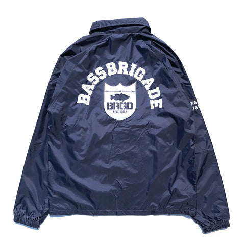 Shield Arch Nylon Coaches Jacket - Navy