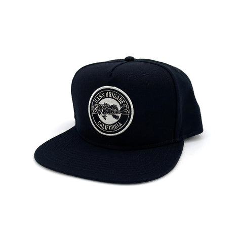 BB CA Bone Snapback Hat - Black