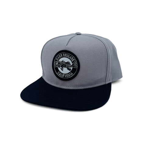 BB CA Bone Snapback Hat - Grey