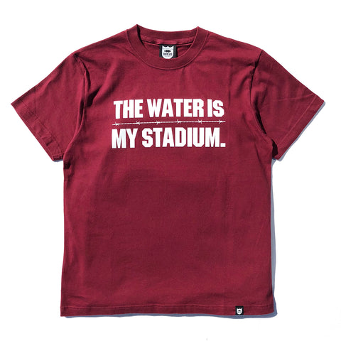 Twims Tee - Burgundy/White