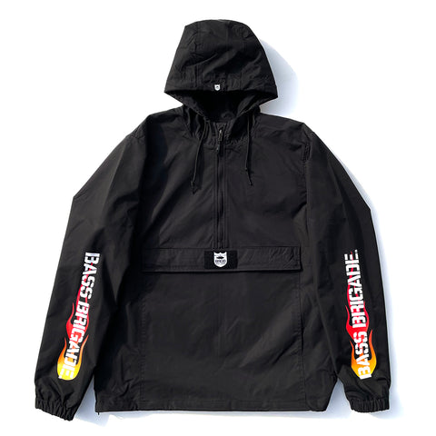 BRGD Flame Anorak Jacket - Black/Red