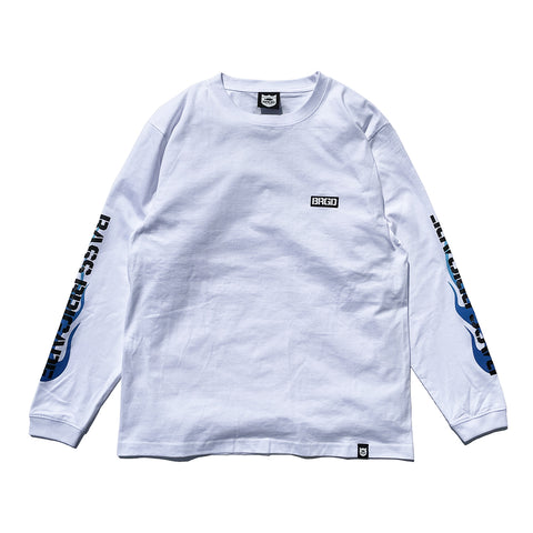 BRGD Flame L/S Tee - White/Blue