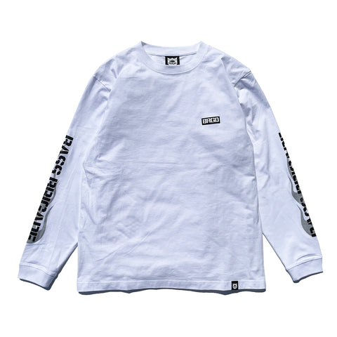 BRGD Flame L/S Tee - White/Silver