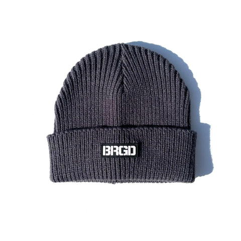 BRGD Logo Heavyweight Knit Watcher Cap - Graphite
