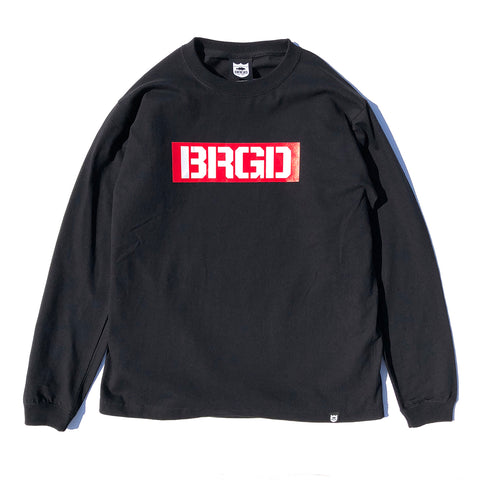 Box BRGD L/S Tee - Black/Red