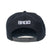 BRIGADE WORDMARK Snapback Hat - Black/White