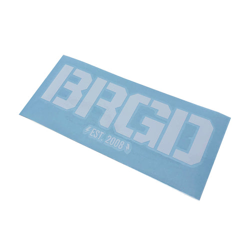 BRGD LOGO DECAL - White