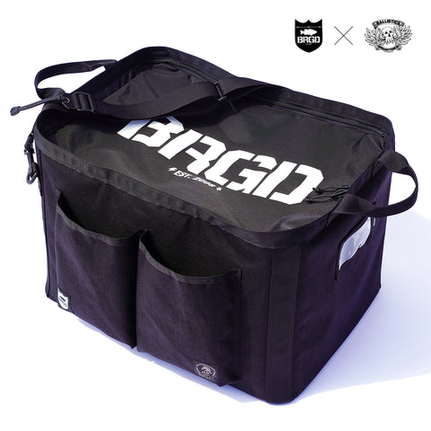 BALLISTICS × BASS BRIGADE GEAR CONTAINER - BLACK/WHITE