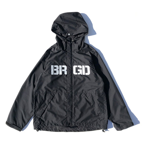 BRGD Logo Mountain Jacket - Black/Black