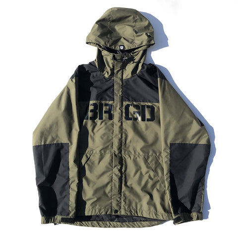 BRGD Logo Mountain Jacket - Olive/Black