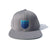 Blank Shield Snapback Hat - Silver