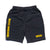 BRGD Logo Sweat Shorts - Black/Yellow