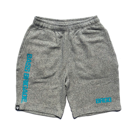 BRGD Logo Sweat Shorts - Heather Grey/Turquoise