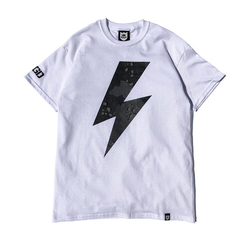 Lake Camo Bolt Tee - White/Lake Camo D.Black
