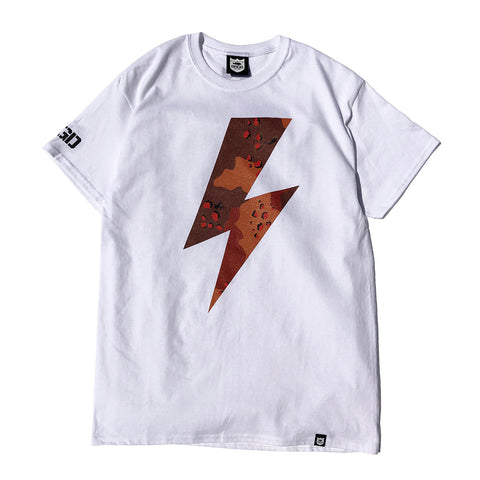 Lake Camo Bolt Tee - White/Lake Camo D.Red