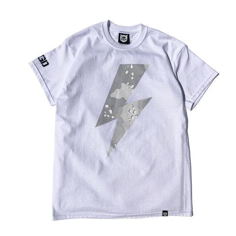 Lake Camo Bolt Tee - White/Lake Camo White