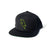Bolt Outline Snapback Hat - Black/Olive