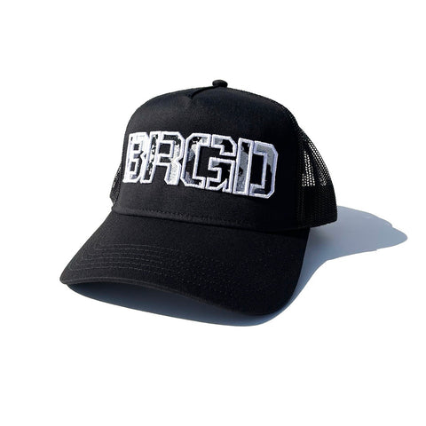 BRGD Lake Camo Trucker Hat - Black