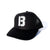 B Logo Trucker Hat - Black