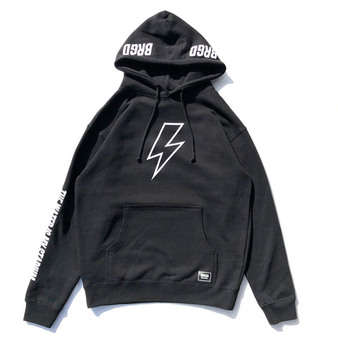 Bolt Outline Hoodie - Black