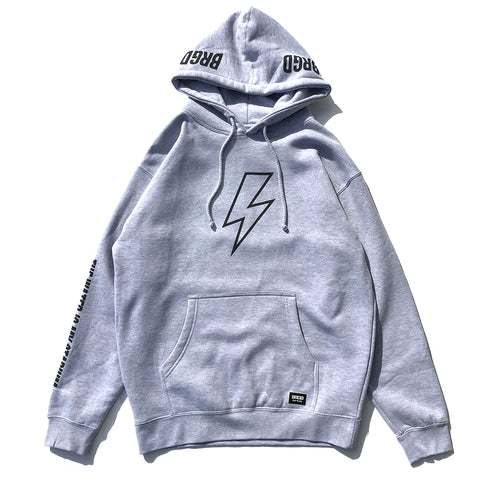 Bolt Outline Hoodie - Athletic Heather