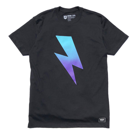 Bolt Gradient Tee - Black