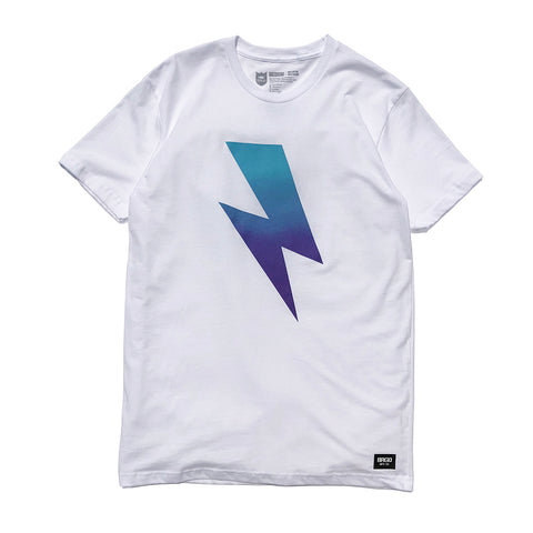 Bolt Gradient Tee - White