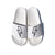 Bolt Outline Sandal - White