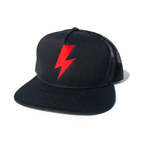 Bolt Trucker Hat - Black/Red