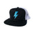 Bolt Trucker Hat - Black/Turquoise