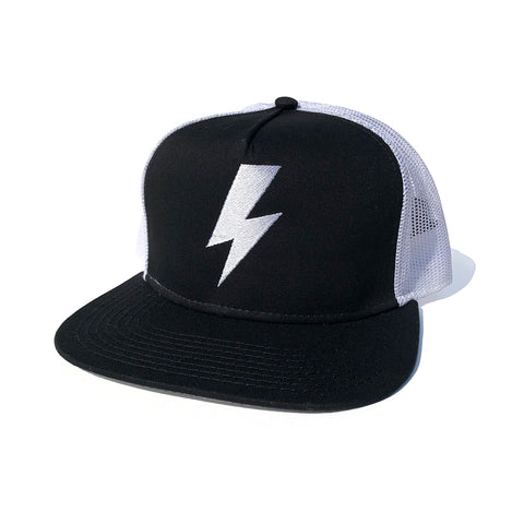 Bolt Trucker Hat - Black/White