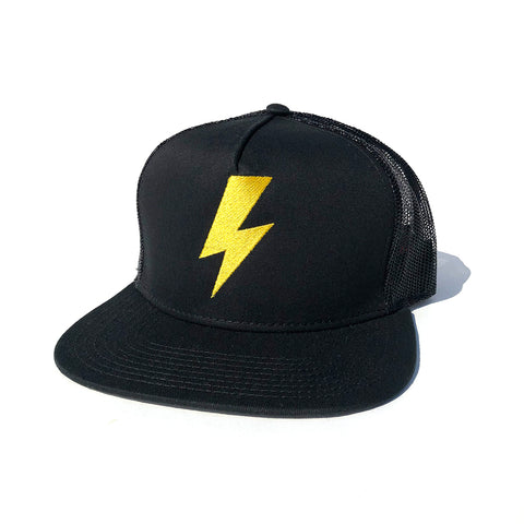 Bolt Trucker Hat - Black/Yellow