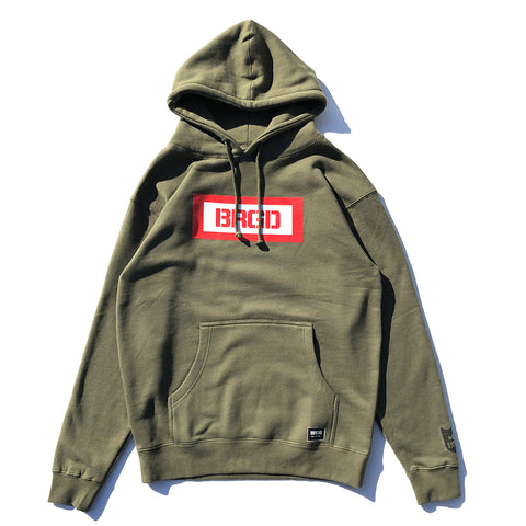 BRGD Box Pullover Hoodie - Army