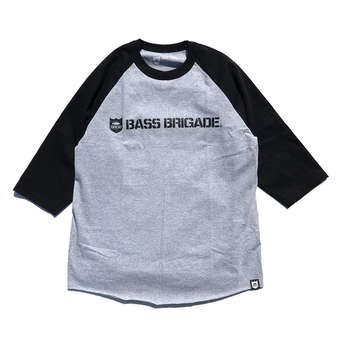 Shield & Wordmark Raglan Tee - Charcoal/Black
