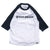 Shield & Wordmark Raglan Tee - Black/White