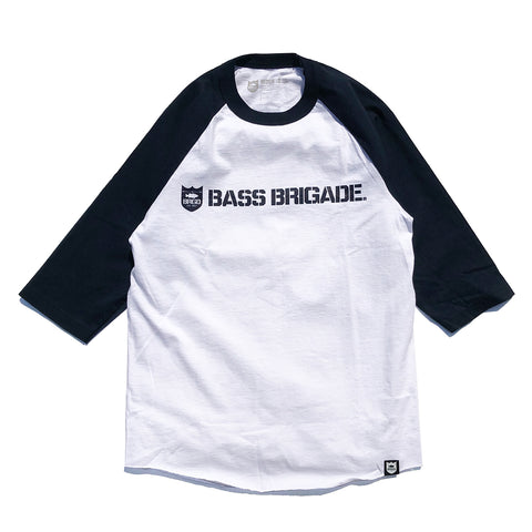 Shield & Wordmark Raglan Tee - Navy/White