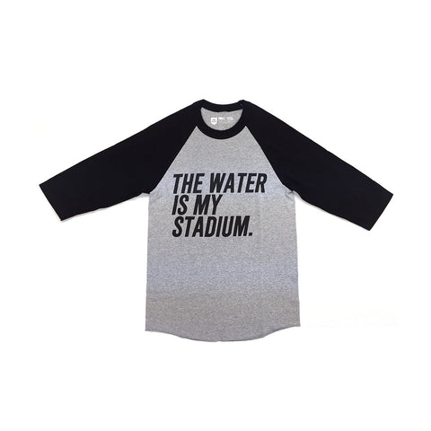 Stadium Raglan Tee - Charcoal/Black