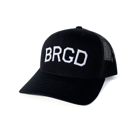 BRGD 3D Puff Trucker Snap Back - Black/Black