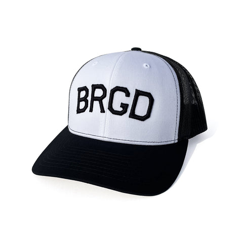 BRGD 3D Puff Trucker Snap Back - White/Black