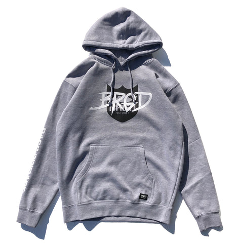 Tagged Shield Logo Hoodie - Athletic Heather
