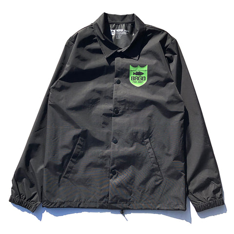 BRGD Frame Coaches Jacket - Black/Olive