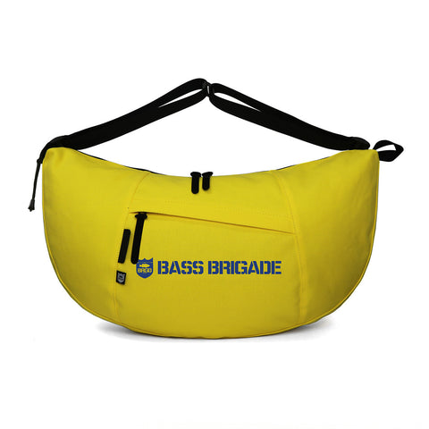 Bass Brigade x FULLCLIP FRIGATE CT Messenger Bag - Yellow (Shield & Wordmark)