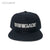 BRIGADE WORDMARK Snapback Hat - Black/Silver [EXCLUSIVE]